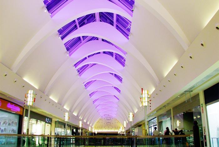 Iluminación techo Centro comercial Xanadú