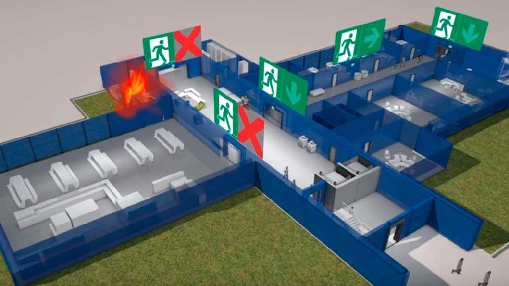 Circuito sistema de evacuación adaptativa
