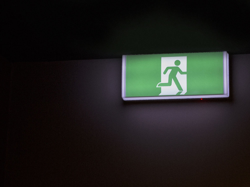 Emergency lighting panel. Adaptive Evacuation System