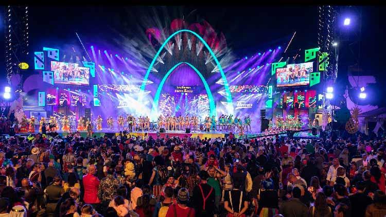 carnaval Canarias lightign
