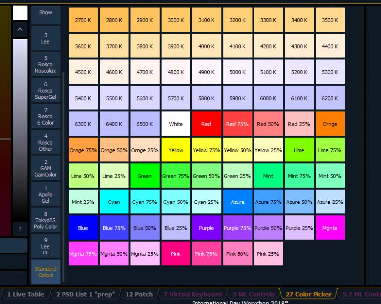 Color Picker EOS ETC