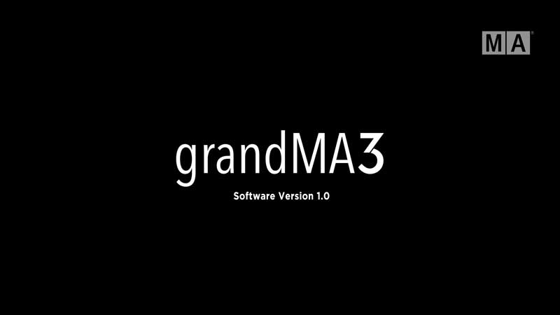 GrandMA3 software version 1.0