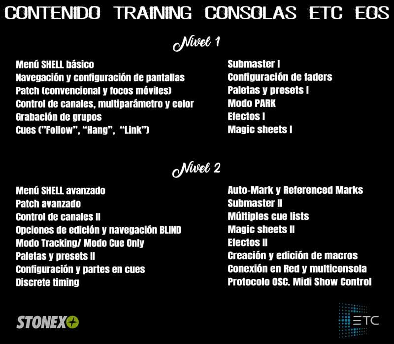 cursos ETC control iluminacion