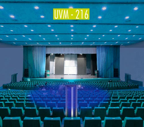 UV-C disinfection in theaters