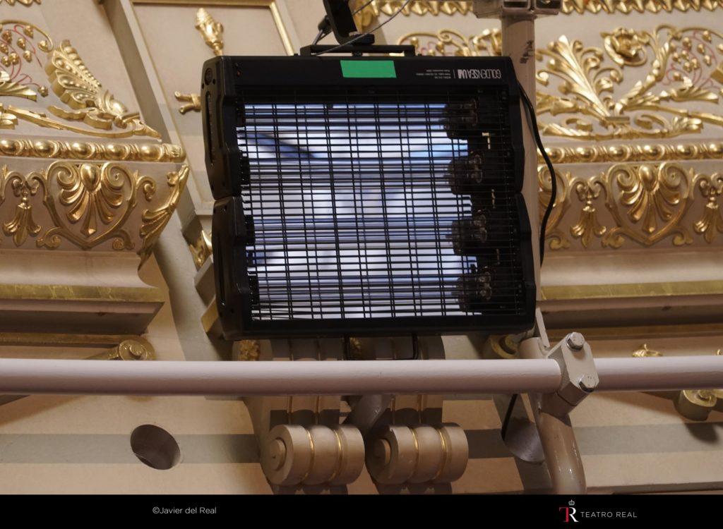 Desinfección a través de luz ultravioleta en el Teatro Real UVL 150