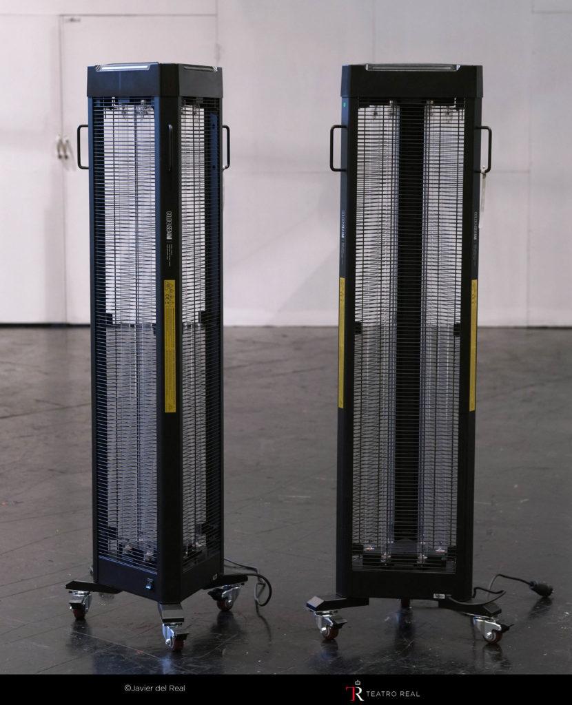 Dispositivos de desinfección UV-C en el Teatro Real
