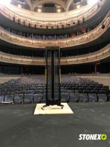 Desinfección UV-C del escenario del Teatro Rojas